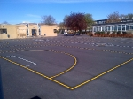 School playground Superflex resurfacing